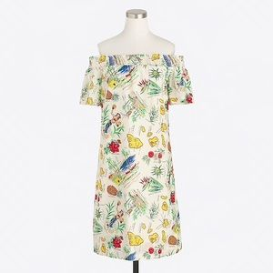 J Crew off the shoulder Hawaii map dress size 6